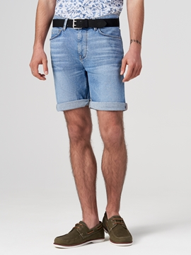 Picture of SUSTAINABLE HAMAR denim shorts, regular made of blended organic cotton