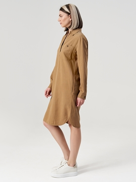 Picture of Polo dress Made of blended viscose and linen