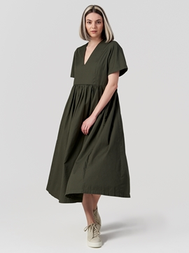Picture of SUSTAINABLE Midi dress Made from organic twill cotton