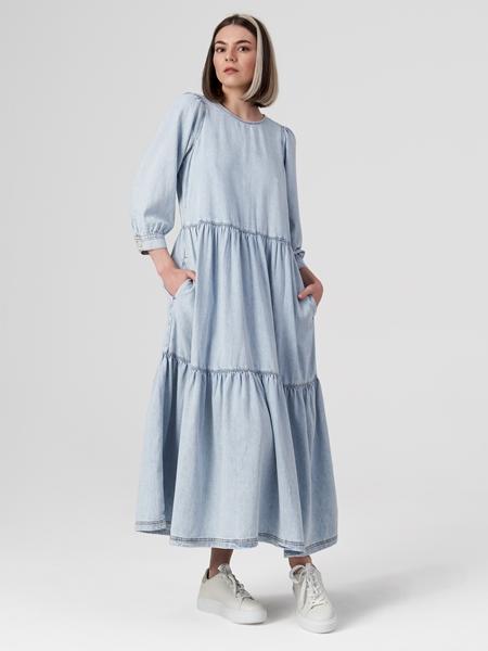 Снимка на Рокля от дънков плат