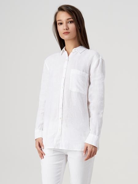 Снимка на Дамска ленена риза с дълъг ръкав