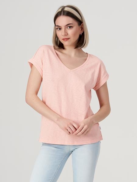 Снимка на SUSTAINABLE Дамска тениска от органичен памук Relaxed fit