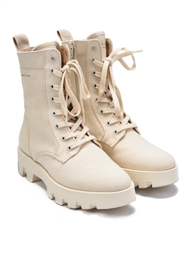 Picture of SUSTAINABLE Lace-up ankle boots Made of sustainable organic cotton