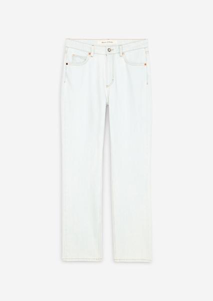 Снимка на Дамски дънки LINDE straight fit с висока талия от органичен памук