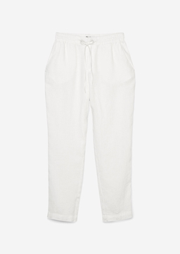 Picture of Trousers in a tracksuit bottoms style Made from pure linen