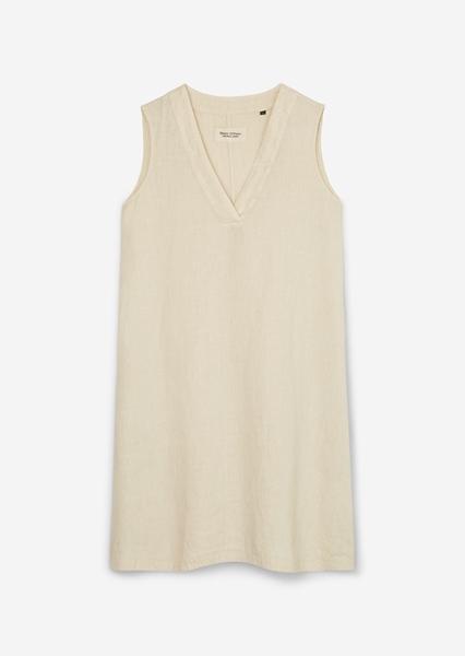 Снимка на Ленена рокля без ръкави