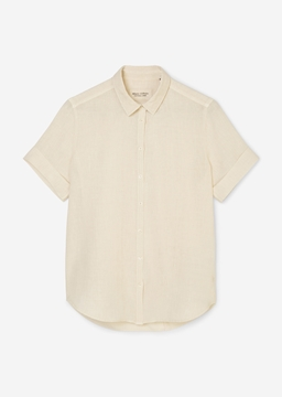 Picture of Short sleeve blouse In a fabric mix
