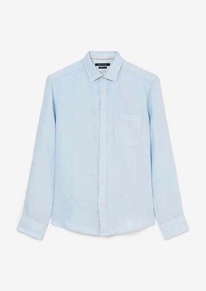 Снимка на Мъжка ленена риза с дълъг ръкав regular fit
