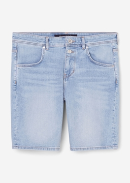 Picture of Denim shorts THEDA boyfriend mid waist model made of blended cotton