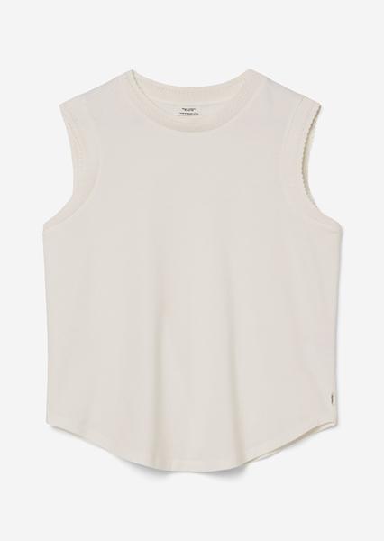 Снимка на Дамска тениска без ръкави от органичен памук regular fit
