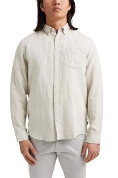 Picture of SUSTAINABLE Linen blend: button-down shirt REGULAR fit