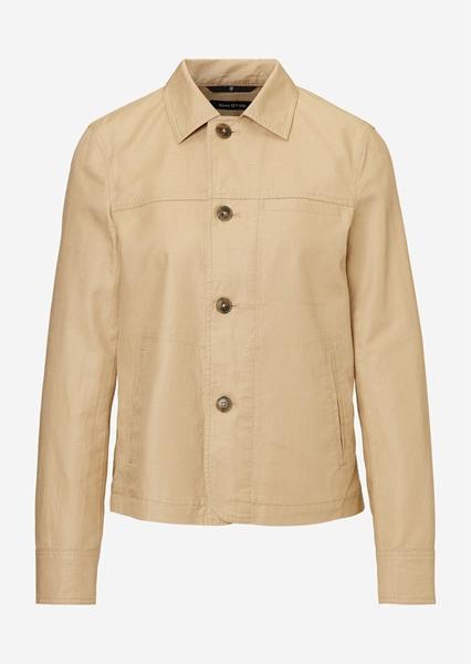Снимка на Дамско яке в стил риза от лен и памук