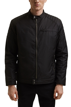 Picture of SUSTAINABLE Recycled: padded biker jacket