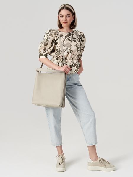 Снимка на Дамска кожена чанта Hobo bag
