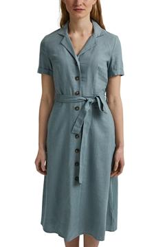 Снимка на SUSTAINABLE Рокля в стил риза с коланче от лен и вискоза midi дължина