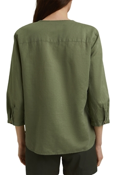 Picture of SUSTAINABLE Blended linen: tunic blouse