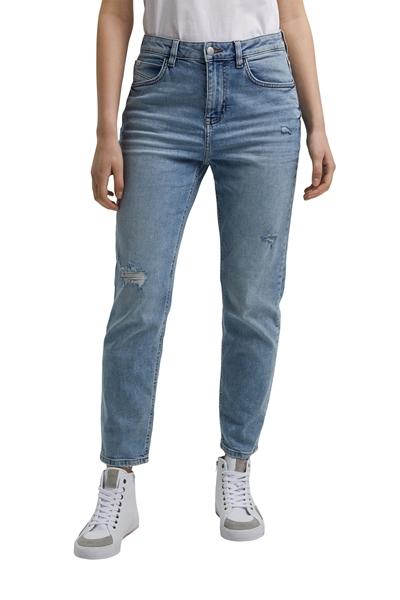 Снимка на SUSTAINABLE Дамски дънки BOYFRIEND със средна талия от органичен памук Slim fit