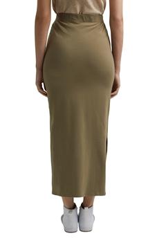 Снимка на SUSTAINABLE Midi вталена пола от жарсе от органичен памук