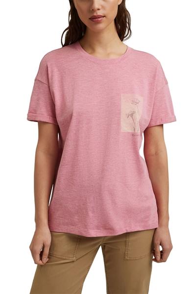 Снимка на SUSTAINABLE Дамска тениска от органичен памук и модал Straight