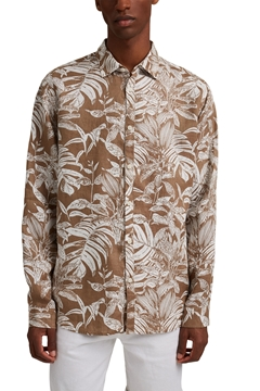 Picture of SUSTAINABLE 100% linen: premium shirt with botanical print