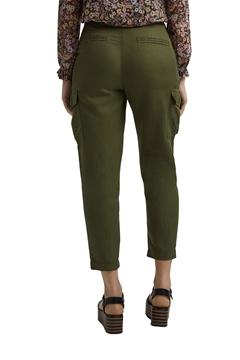 Снимка на SUSTAINABLE Дамски карго панталон от лен и памук с висока талия