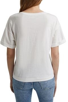 Снимка на SUSTAINABLE Дамска тениска с щампа от органичен памук Straight fit