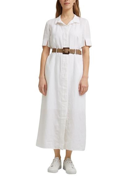 Снимка на SUSTAINABLE Рокля в стил риза от лен с коланче