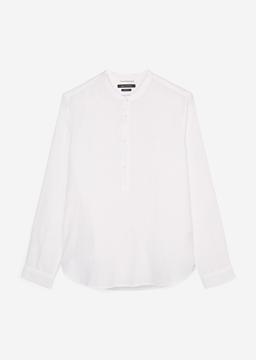 Снимка на Мъжка риза с къс ръкав от лен Shaped fit