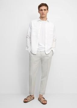 Снимка на Мъжки панталон Chino Navrik от памук и лен