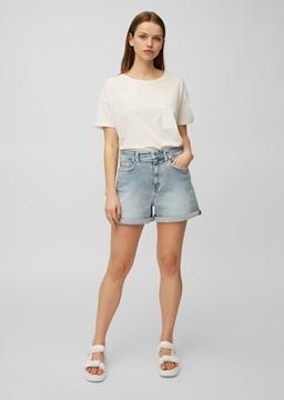 Снимка на Дамски дънкови панталони с висока талия
