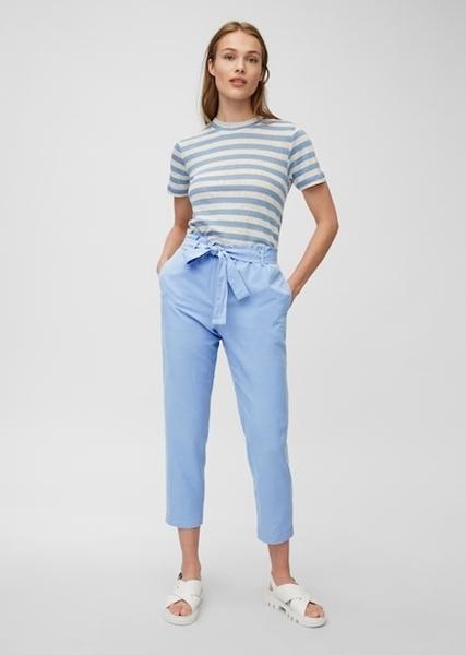 """Снимка на Дамски панталон """"Paper bag"""" от лен, вискоза и памук"""