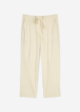 Снимка на SUSTAINABLE Дамски панталон Straight fit от Памук/Поплин