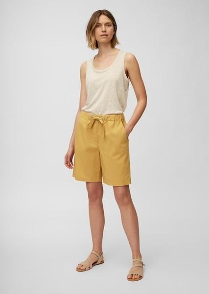 Снимка на Дамски къси панталони от органичен памук  Straight fit