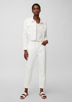 Снимка на SUSTAINABLE  Дамски дънки LINDE straight fit с висока талия от органичен памук