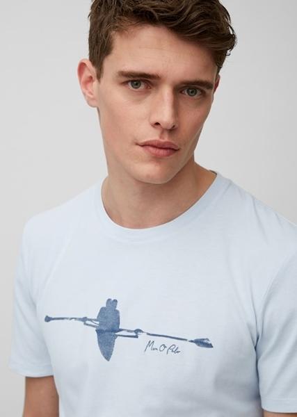 Снимка на SUSTAINABLE Мъжка тениска от мек памук Shaped Fit