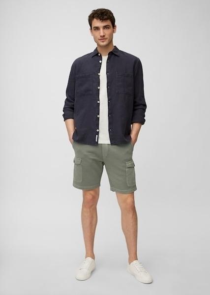 Снимка на SUSTAINABLE Мъжки къси панталони Cargo от органичен памук Shaped Fit