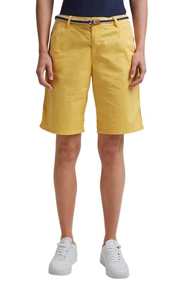 Снимка на Къси панталони с колан от памук