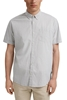 Снимка на SUSTAINABLE Мъжка риза с къс ръкав от органичен памук Regular fit