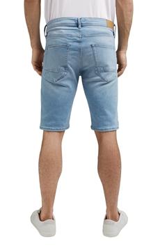 Снимка на SUSTAINABLE Мъжки дънкови къси панталони от органичен памук