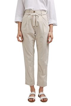 Снимка на SUSTAINABLE Дамски чино панталон с HIGH- RISE от органичен памук