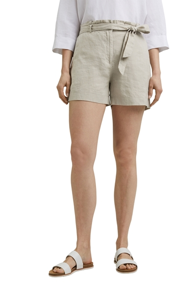 Снимка на SUSTAINABLE Дамски къси ленени панталони с колан