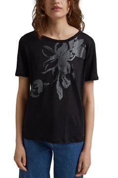 Снимка на SUSTAINABLE Дамска тениска от лен с принт