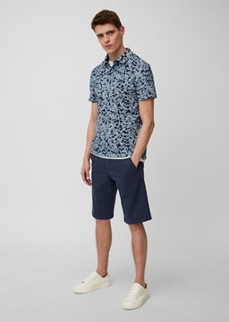 Picture of SUSTAINABLE Short-sleeved shaped polo shirt in piqué fabric made of organic cotton