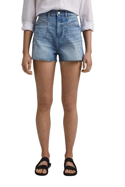 Снимка на SUSTAINABLE Дамски къси VINTAGE  панталони с висока талия от органичен памук