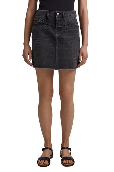 Снимка на SUSTAINABLE Мини дънкова пола с винтидж ефект от органичен памук