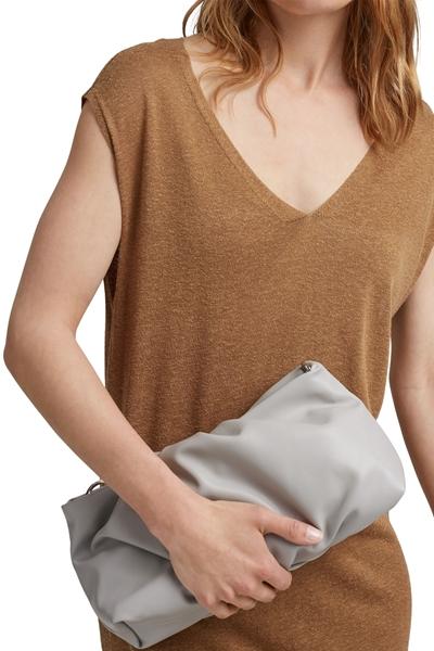 Снимка на Дамска мини чанта с къса дръжка и цип
