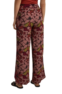 Снимка на Дамски панталон с широки крачоли сцветен принт