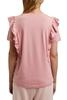 Снимка на SUSTAINABLE Дамска блуза с къс ръкав и волани на раменете