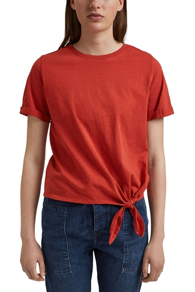 Снимка на SUSTAINABLE Дамска блуза с къс ръкав и възел