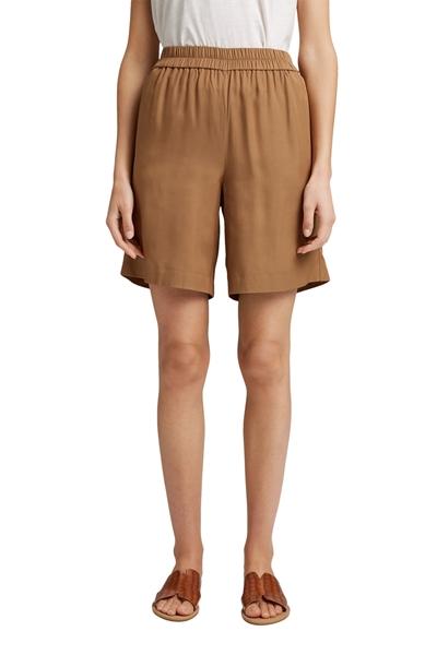 Снимка на SUSTAINABLE Дамски къси панталони от вискоза с ластик